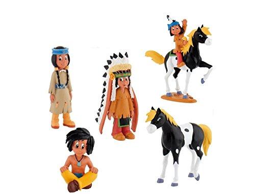 Bullyland Yakari Set 5 Figuren - 43355, 43356, 43359, 43360,43358