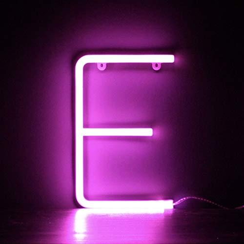 Smiling Faces UK Neon LED Pink Buchstaben Licht Zeichen - Wandbehang batteriebetrieben - Brief E - Neon-licht Zeichen
