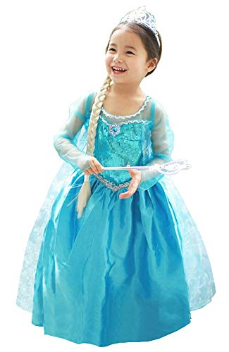 About Time Co Girls' Princess Snow Queen Fancy Dress (3-4 ()