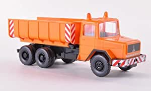 Magirus Deutz camion à benne basculante, orange communale, Schuttwagen , Model Car, Miniature déjà montée, Wiking 1:87