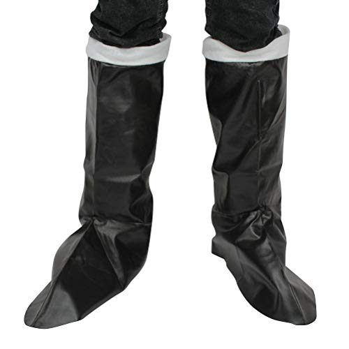 U-Kunstleder Kniehohe Stiefel-Abdeckungen für Weihnachtskostüm Perfomace 1 Paris ()