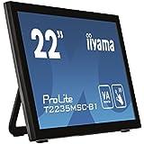 IIYAMA T2235MSC-B1 54,6cm 21,5Zoll 10 Punkt Multitouch kapazitiv 1920x1080  225cd/m  VGA DVI Display Port Lautsprecher neigbar black
