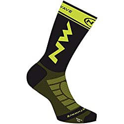 NORTHWAVE Set 3 Calcetines ciclismo hombre EXTREME LIGHT PRO negro/lima fluo