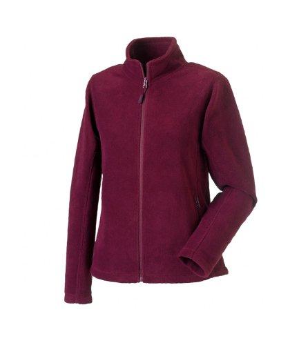 Russell Womens Full Zip Outdoor Fleece Jackets Rouge - Bordeaux