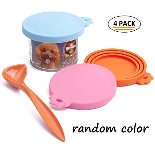 SuperDesign - Universal Silikon, Tiernahrung, Aufbewahrung, Dose, Deckel, passend für drei Standardgrößen, Hund und Katze, Dose, Abdeckungen Kann Lagerung Von Lebensmitteln