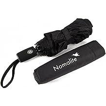 Paraguas automático antiviento de Nomalite   Paraguas plegable para hombre y mujer en Teflón negro,