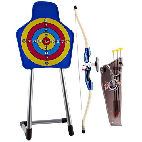 deAO Qualitäts- Jugend Recurve Pfeil, Bogen und Ziel mit Halter Set Kinder Junior Bogenschießen Training Spielzeug für Kinder Outdoor Teams Spiel Geschenk