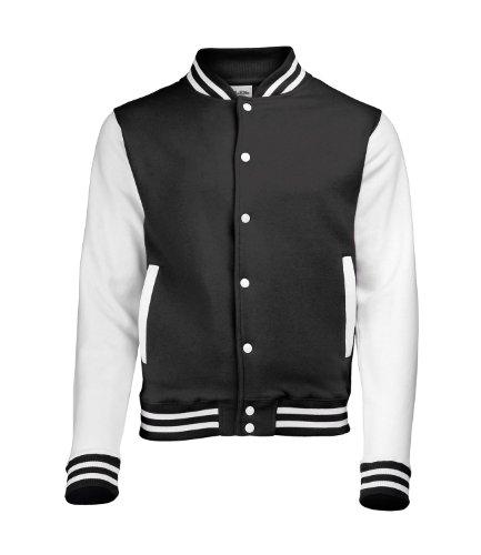 Just Hoods by AWDis Herren Jacke Varsity Jacket Schwarz