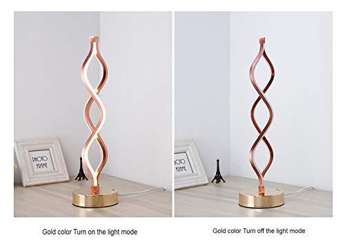 CCDZ Persönlichkeitskreativität Dreifarbiges Dimmen Goldfarben LED Tischleuchte Augenschutz Schlafzimmer Studierzimmer Modern Einfach Acryl Aluminium Material Tischlampe Erleuchtung