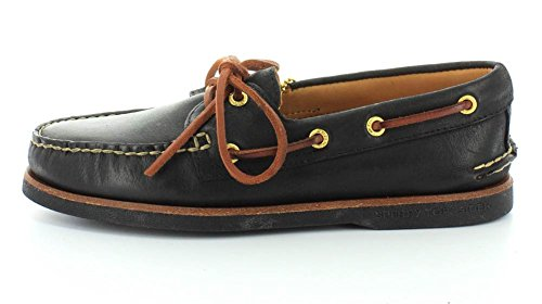 Sperry Top-Sider Gold A/O 2 Eye Black Leather Black