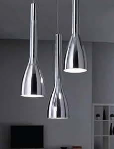 ergo s3 moderne pendelleuchte 3 leuchtet glasspiegel in k che esszimmer arbeitszimmer. Black Bedroom Furniture Sets. Home Design Ideas