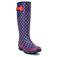 Evercreatures Multisun Tall Wellies UK 3/EU 36 Blue, Orange