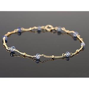 Iolith mit Satellitenkette Armband Etwas Blaues Brautschmuck Hochzeit