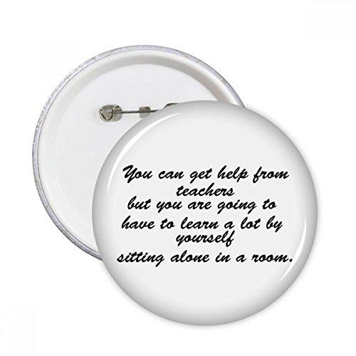 DIYthinker Lernen hängt davon ab Yourself Runde Stifte Abzeichen-Knopf Kleidung Dekoration Geschenk 5pcs Mehrfarbig S