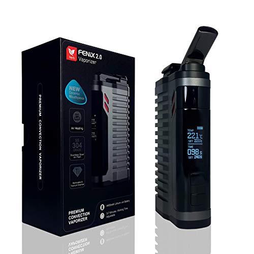 FENiX 2.0 Vaporizer *Gun Metal* Verdampfer + ECHTE KONVEKTION!! für Kräuter/Harze/Wachse + verbesserte Version 2019 + auswechselbare Titankammer + 4400 mAh-Akku und vieles mehr.! KEIN NIKOTIN!!