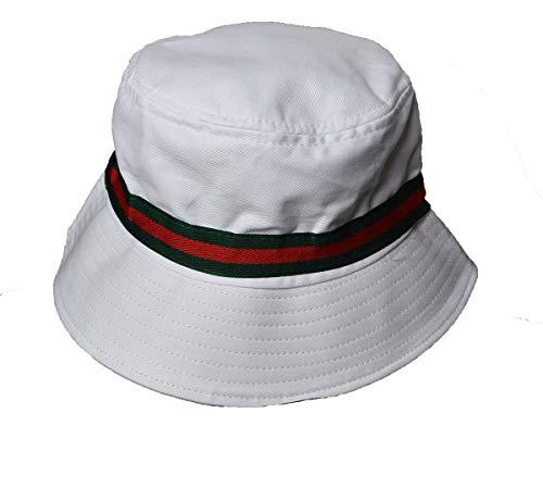 Wigwam Cool Streifen Baumwolle Bucket Hat Grau -