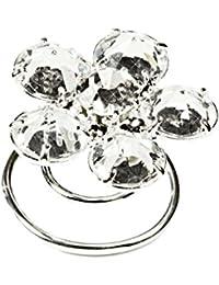 Accesorios para pelo 6 espirales para ocassiones festivas flor èstras de Swarovski, boda, novia, con baño de rodio