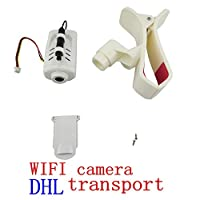 Fyto Aircraft Accessories 1*WIFI Camera+1*Mobile Phone Support+1*Bottom cover+2*Screws for SYMA X5C X5SC X5SW X5HW X5HC X54HW Remote Control Helicopter FPV WIFI Real-time Transmission Camera Set Parts by china