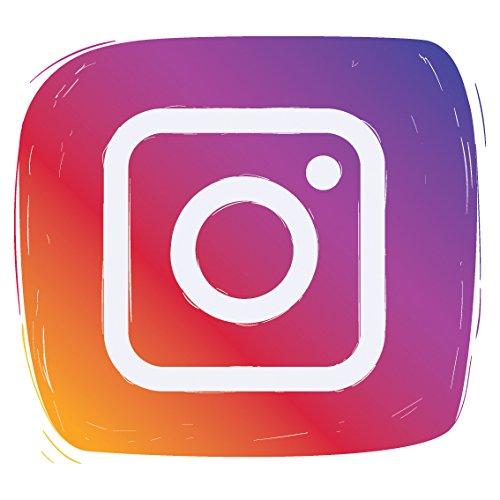 Best Social Media Designs Selbstklebender Vinyl-Aufkleber, für Auto, Fenster, Wand, Shop-Display, als Dekoration, für Türschilder, Vinyl, Instagram, 15 x 15 cm