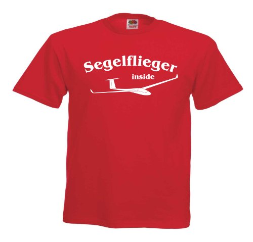 Segelflieger inside T589 Unisex T-Shirt Textilfarbe: rot