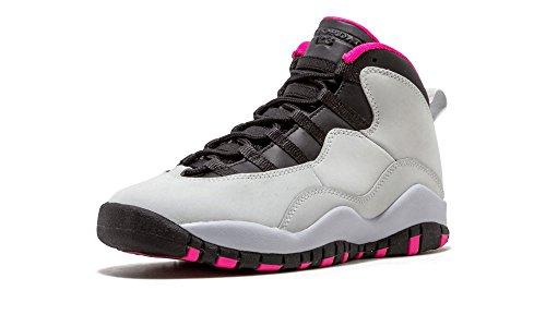 Nike Air Jordan 10retro GS Pure Platinum/rosa/bianco/nero 487211-008 Pure Platinum/Vivid Pink