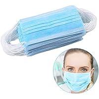 40 piezas azules tres capas de máscara para el polvo no tejido de la prueba Haze sólidos Máscaras desechables Protección de la Salud