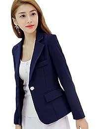 YiLianDa Mujer Oficina Trabajo Ajustada Elegant Blazers OL Casual Cardigans  Chaqueta 953684edffee8