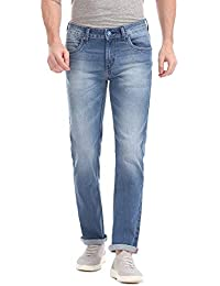 RUF & TUF Men's Slim Fit Stretchable Blue Jeans RTJN0824