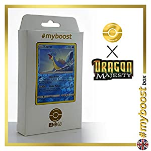 Lapras 21/70 Holo Reverse - #myboost X Sun & Moon 7.5 Dragon Majesty - Box de 10 cartas Pokémon Inglesas