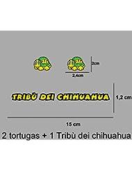 PEGATINAS TRIBU CHIHUAHUA ROSSI VR46 STICKERS AUFKLEBER DECALS AUTOCOLLANTS ADESIVI (AMARILLO)