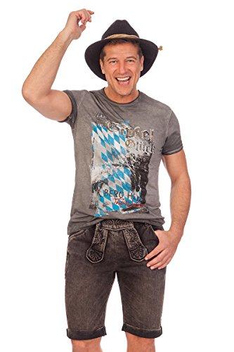Trachten Jeansshorts - SAMMY - braun, Größe 52