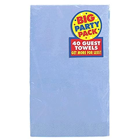 Amscan Beautiful Big Party Pack Pastel Guest Paper Towel Party Supply (40 Pack), 4-1/2 x 7-3/4
