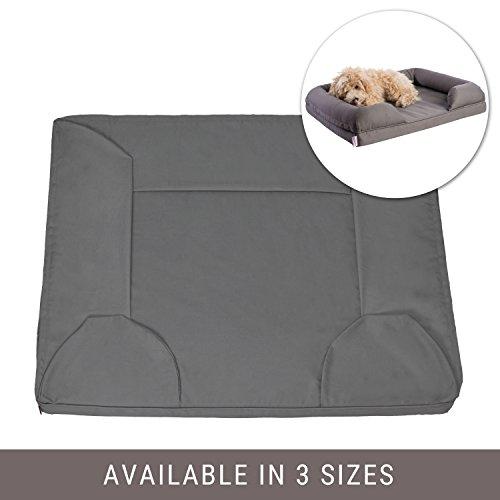 Petlo Ersatzbezug für Haustiersofa, abnehmbar, Wasser- und Kratzfest, maschinenwaschbar und leicht zu reinigen, Doppelreißverschluss mit Zwickel -