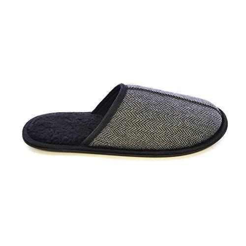 Herringbone Herren Slippers Grau