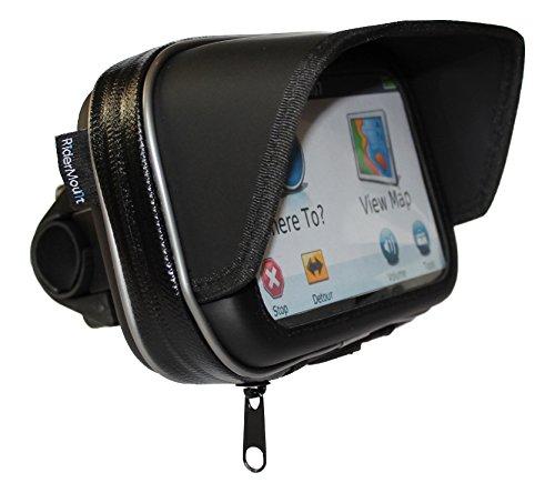 Ridermount impermeabile parasole 12,7cm navigatore satellitare GPS custodia con supporto per manubrio da moto per Garmin TomTom 12,7cm
