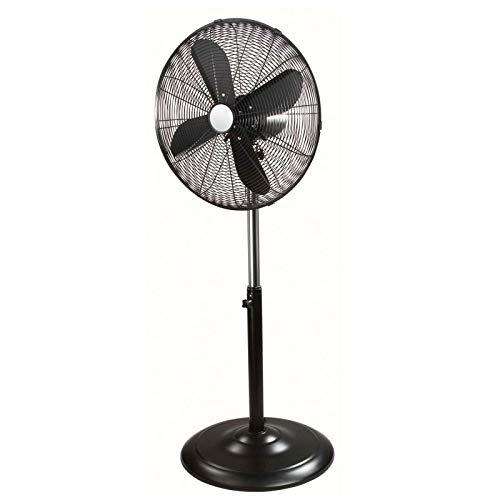 Standventilator Höhenverstellbar Ventilator 45 cm Standlüfter Schwarz (Oszillierung, 3 Stufen, 45 Watt, Windmaschine, Leise, Höhe 150 cm)