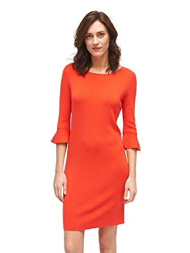 TOM TAILOR für Frauen Kleider & Jumpsuits Kleid mit Volantärmeln grenadine red 36