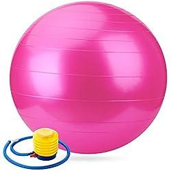 gobuy Anti-Burst Balance Stabilität rutschfeste Yoga/Pilates Ball mit Pumpe, rose