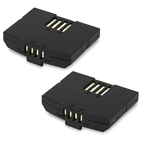 2x subtel® Qualitäts Akku für Sennheiser RI 410 (IS 410) / RR 4200 (RS 4200 II) / RI 840 (Set 840 TV) / RI 840-S - 150mAh - Ersatzakku Sennheiser BA300 BA (Sennheiser Ri 410)