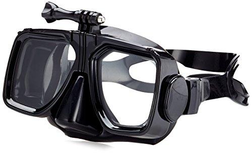 Kitvision Submerge Taucherbrille Tauchmaske Schnorchelmaske mit Actionkamera-Halterung Kompatibel mit GoPro HERO [3, 3+ oder 4], Kitvision Escape/Splash uvm. - Schwarz