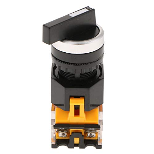 perfeclan No Rastender Drehschalter, Kunststoff La38-20xc / 3 3 Position Knopf Schalter 12v 12 Position Rotary Switch