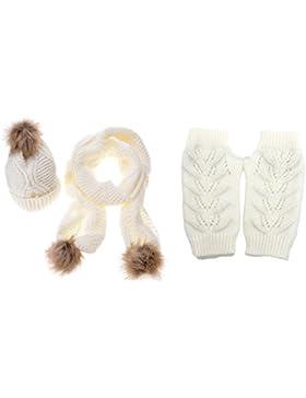 Jelinda mujeres otoño invierno gorro guante y bufanda Set
