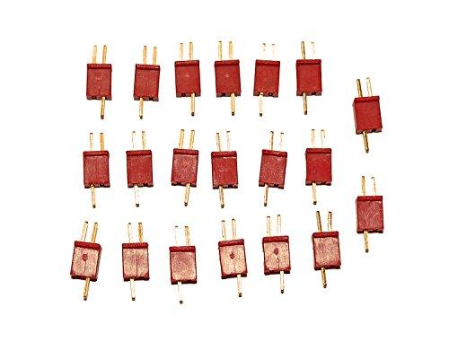 Micro-jst-anschluss (Premium Modellbau Stecker Anschlüsse aus Deutschland von Modellbau Eibl® - Wählen Sie Ihre Variante - EC2 EC3 XT30 XT60 MPX T Dean JST MR30 HXT 2mm HXT 4mm Stecker uvm. (Micro T-Dean - 10 Paar))