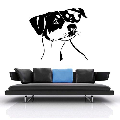 Jack Russell Hundeaufkleber für Wand oder Auto Folienschnitt Hund | KB066W