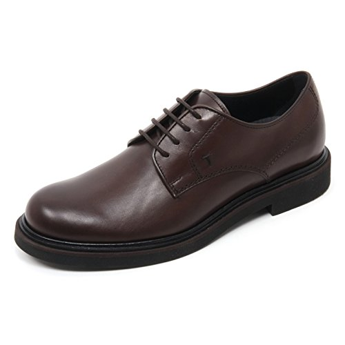 B7281 scarpa classica uomo TOD'S DERBY scarpe allacciate marrone scuro shoe man Marrone scuro