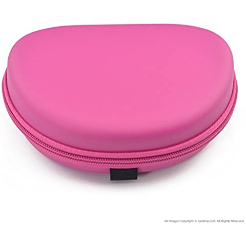 Auriculares Funda para auriculares Beats Solo HD 2.0y más/auriculares Funda de transporte/bolsa de viaje (Rosa)
