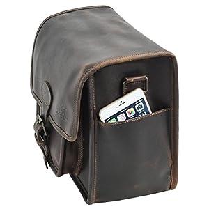 "41WoUe4VM1L. SS300  - Bolso Bandolera de Cuero Gusti Leder Jens Bolso para Portátil iPad 9,7"" Oficina Cuero de Búfalo Marrón 2B26-26-54"