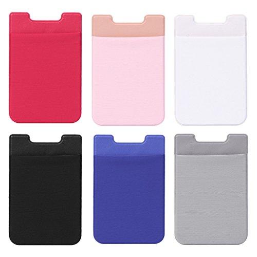 Selbstklebende Aufkleber für Handyrückseite, Kartenfächer, Kartenfach rose