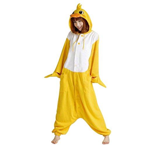 Keral TierKostüm Cosplay Erwachsene Pyjamas Kostüm Halloween Pyjamas Duck Größe XL (Duck Halloween Kostüm Für Frauen)