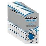 RAYOVAC 675 Implant Pro+, batterie per apparecchi acustici per dispositivo di impianto cocleare, confezione da 60 pile